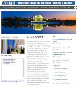 ACCET-Website